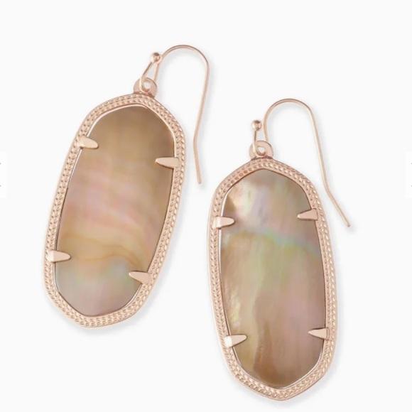 Kendra Scott Elle brown mother of pearl earrings